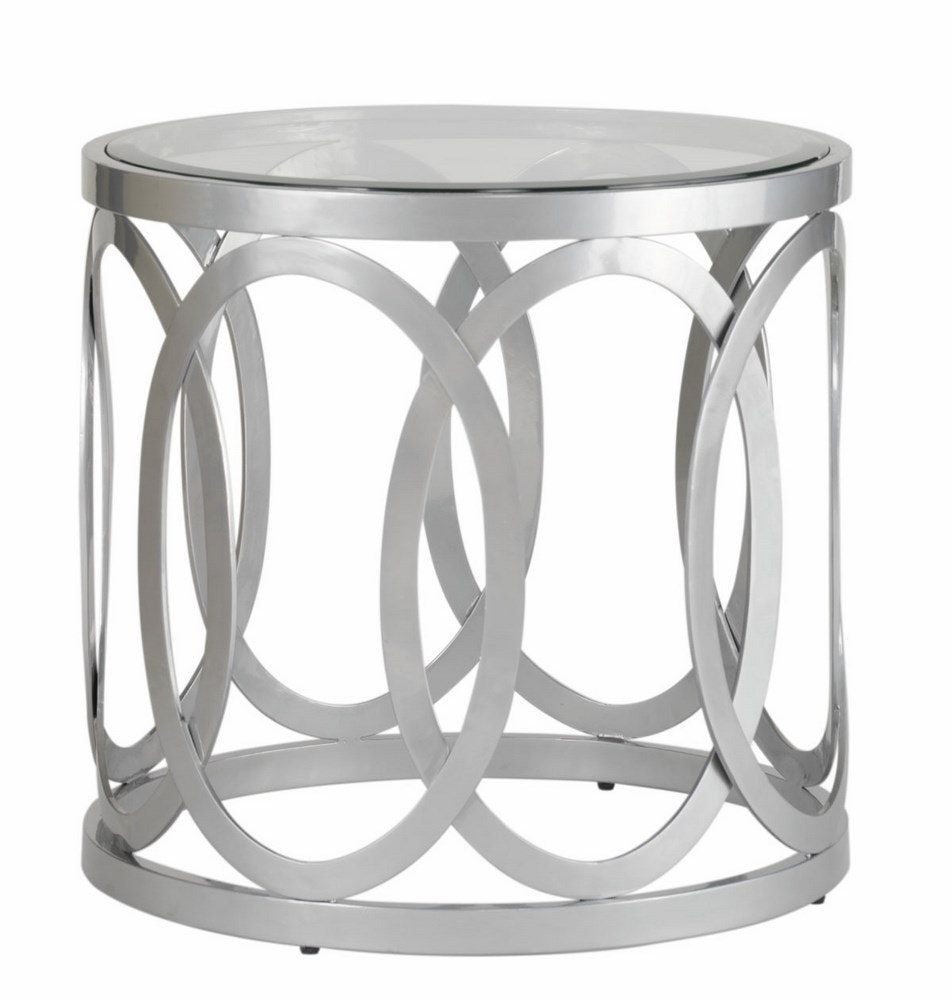 50 Round Silver End Table Modern Contemporary Furniture Check More At Http
