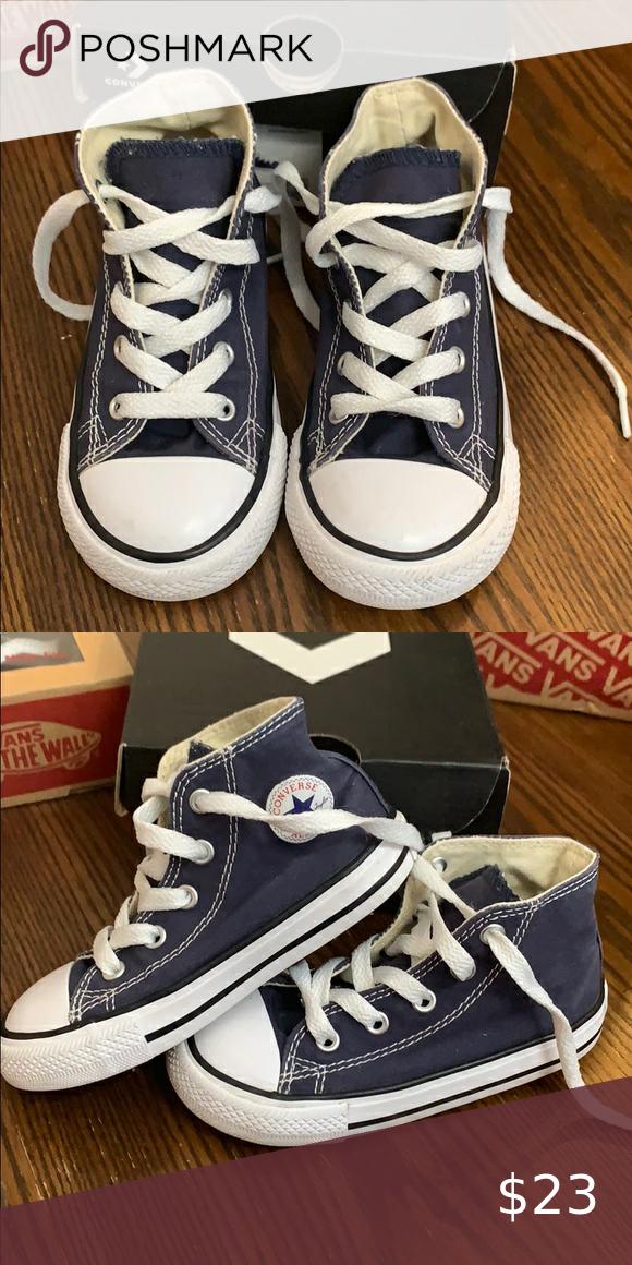 navy blue converse kids