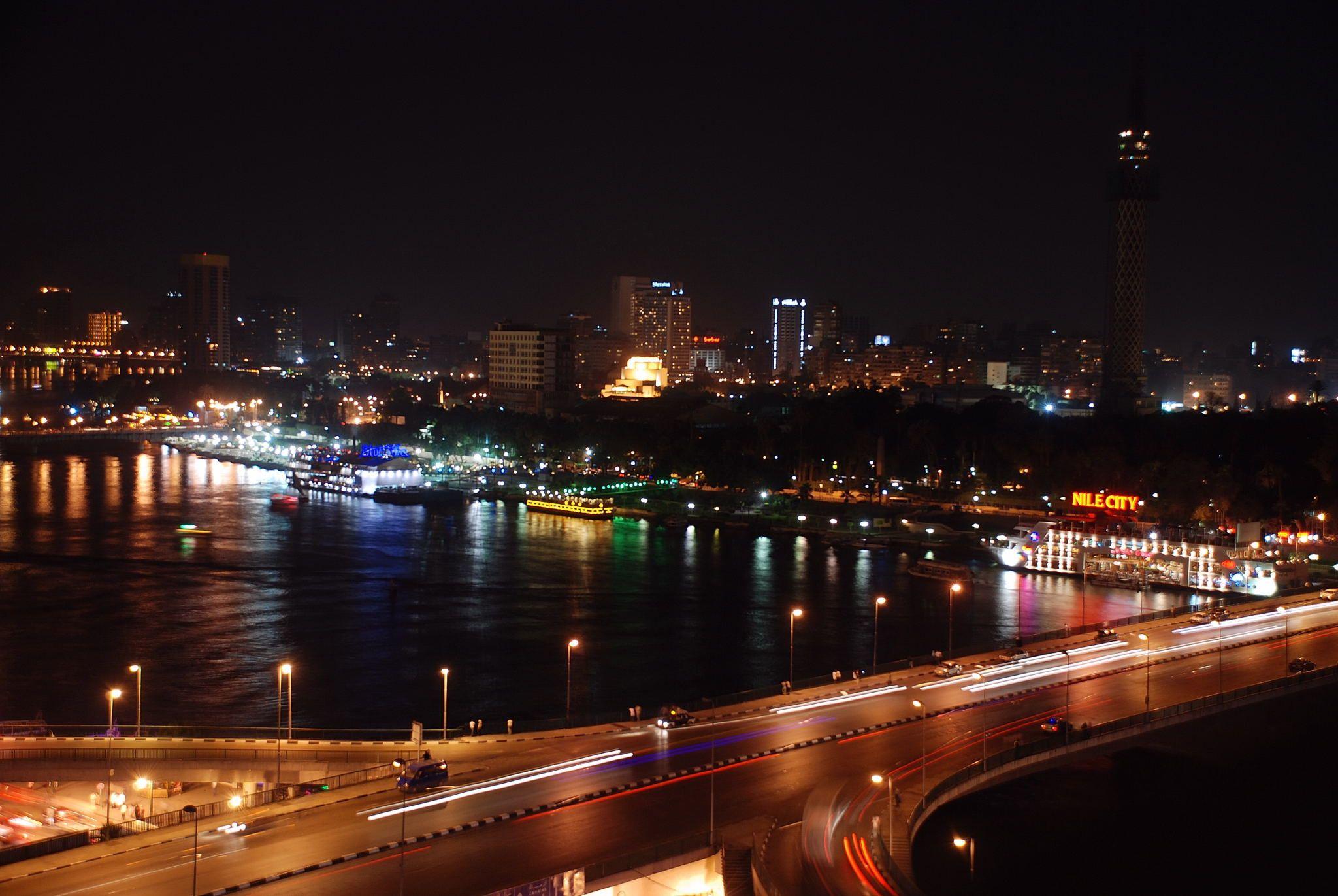 Vista desde el Ramsés Hilton.  El Cairo