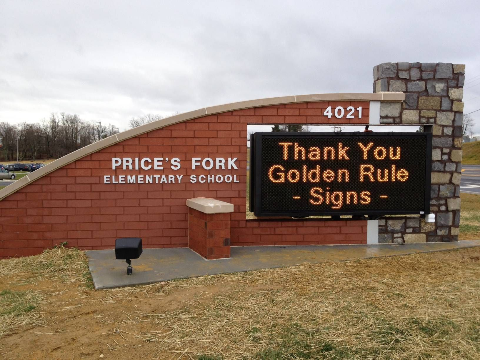 Prices Fork Elementary Led School Sign Golden Rule Signs Led