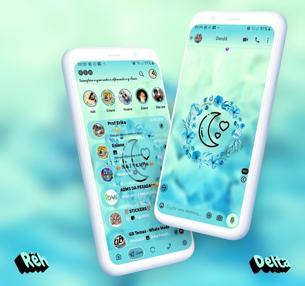 Moon Theme For Yowhatsapp Delta Whatsapp By Reh In 2021 Themes App Theme Girl Themes