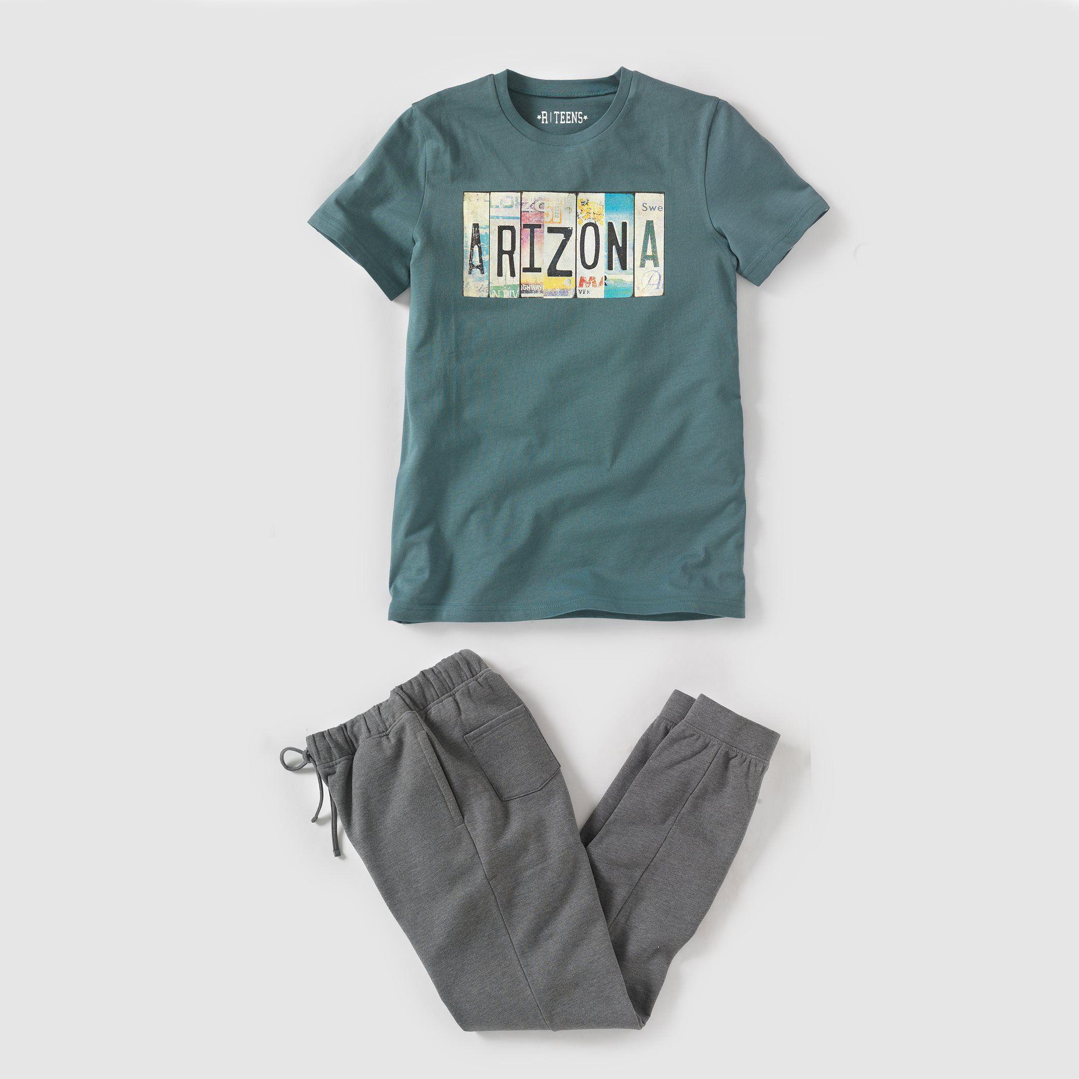 8dcaa03d63b42 Pyjama bi-matière imprimé arizona 10-16 ans R Pop