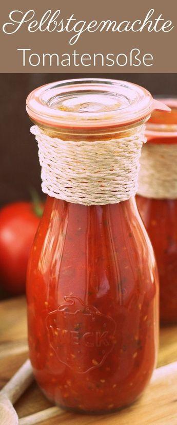Tomatensoße einkochen Tomatensoße aus frischen tomaten - geschenke aus der küche weihnachten