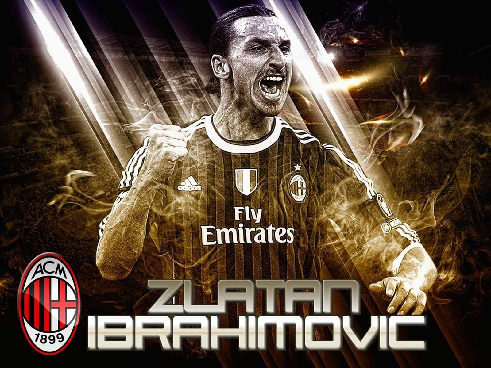 Zlatan Ibrahimovic Fly Emirates Ac Milan Hd Picture