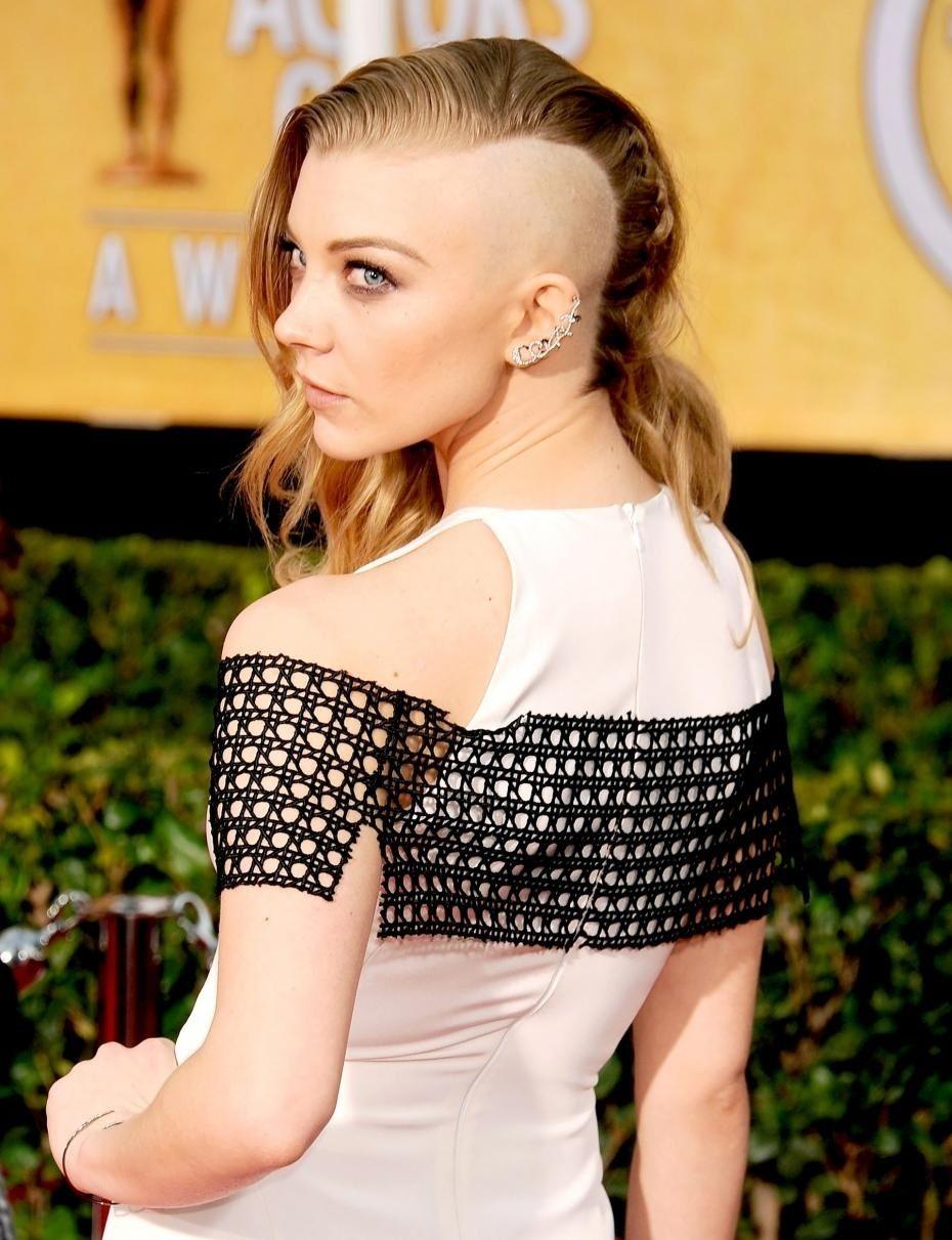 Sophie Turner Sansa Stark Half Shaved Hair Funky Hairstyles Natalie Dormer