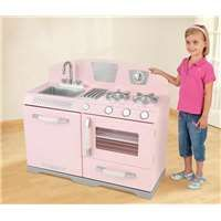 Beautiful KidKraft Pink Retro Kitchen Stove U0026 Oven Girls Play Set | 53117