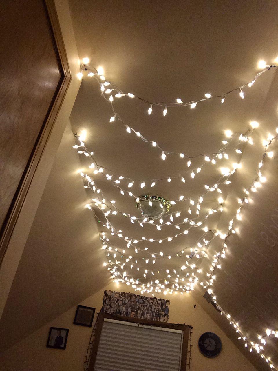 Lights Tumblr Room Christmas Lights Lights In Room Tumblr