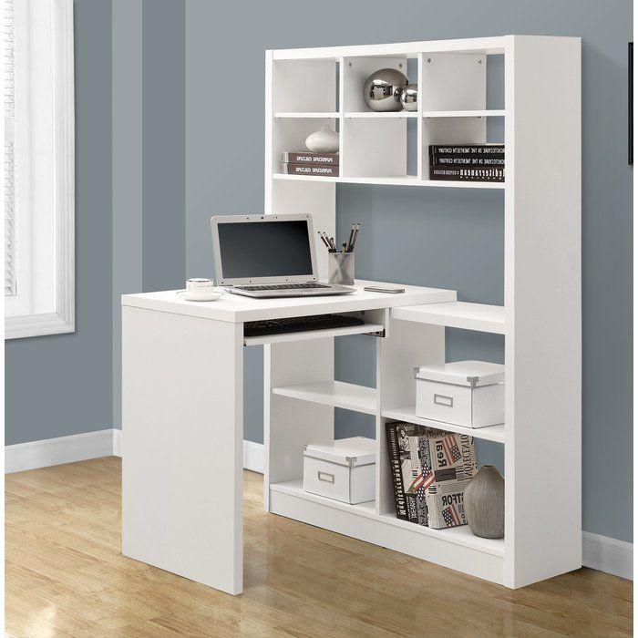 Kearns Keyboard Tray L Shape Writing Desk White Desks Desk