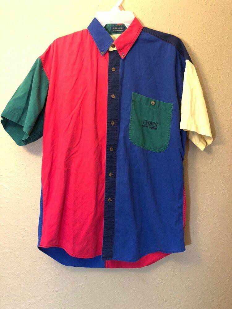 15afa224e20b21 Vintage Chaps Ralph Lauren Color Block Button Down Medium #fashion  #clothing #shoes #accessories #mensclothing #shirts (ebay link)