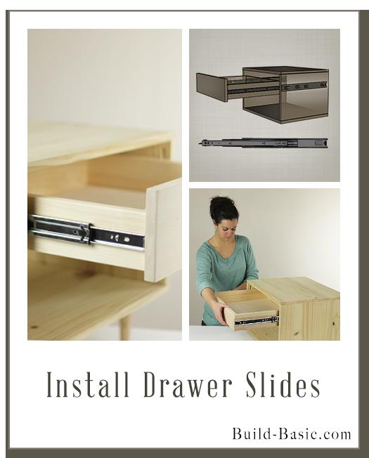 Install Drawer Slides Image by Build Basic   Holz etc   Pinterest ...