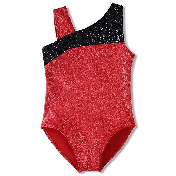 32856c0b4669 Gymnastics Leotard for Toddler Girls 2t 3t Red Black Kids Dance ...