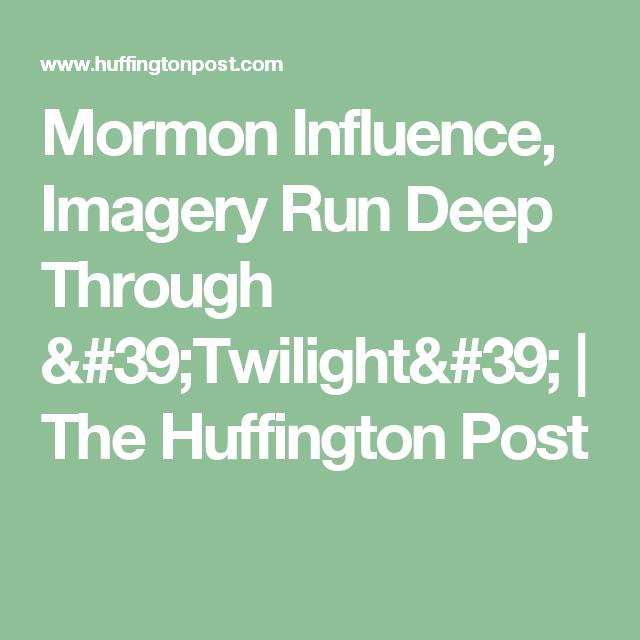 Mormon Influence Imagery Run Deep Through Twilight