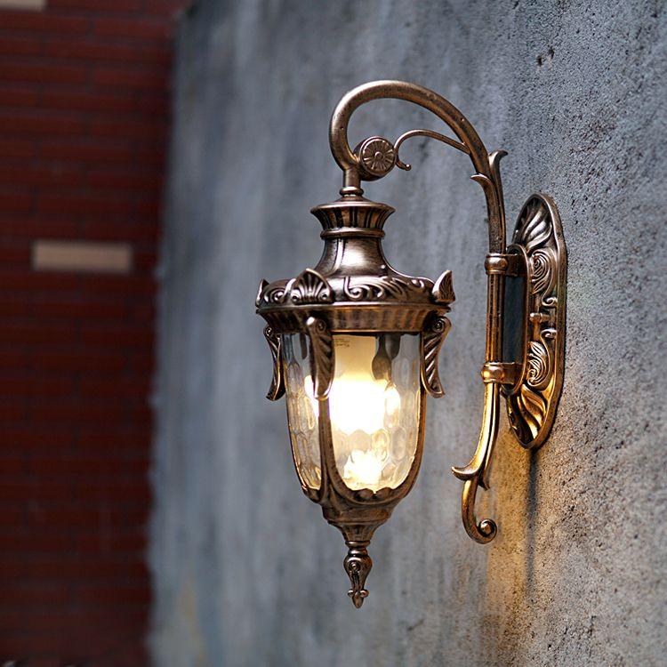 European Style Outdoor Wall Lamps American Villa Retro Garden Led