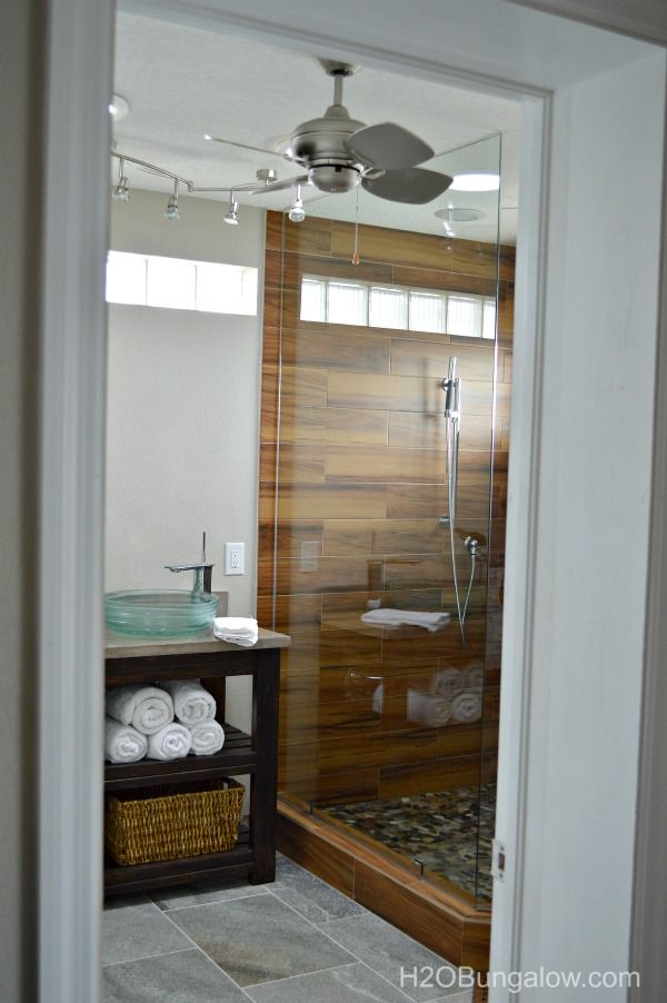 Bathroom Renovation Shows contemporary small master bath renovation | creative, pebble stone