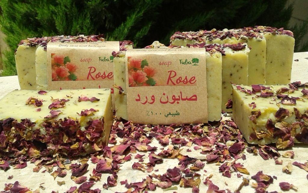 Olive soap with Rose Ingredients EV Olive oil 65, castor