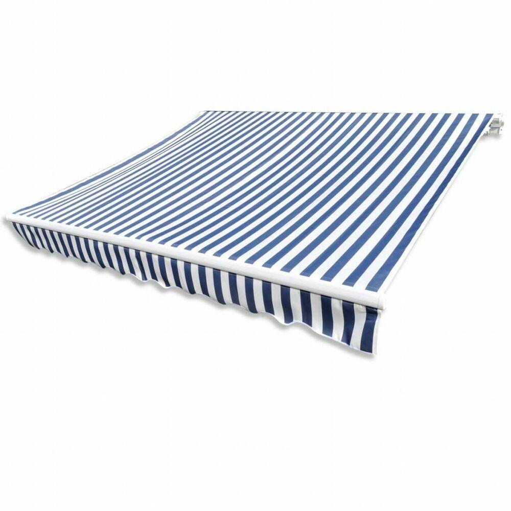 Ebay Sponsored Vidaxl Markisenstoff Sonnenschutz Markisentuch Blau Wei 63 M Ohne Rahmen Stoff Stoffe Baumwolle In 2020 Patio Awning Fabric Awning Shade Cover