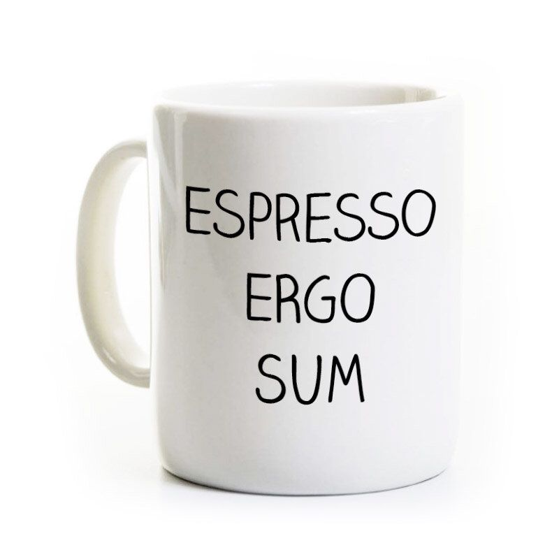 Latin Teacher Coffee Mug Philosophy Espresso Ergo Sum Etsy Mugs Coffee Mugs Espresso