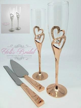 29f0c76edb2 Swarovski Crystal Wedding toast Set