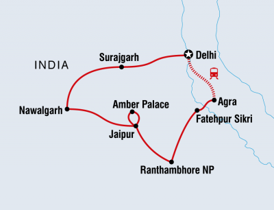 Family holiday to India, sightseeing and safari. Taj Mahal in Agra to the Palace of the Winds in Jaipur, from £1319 - £1460 (11 days )  inc UK flights. Run by a specialist tour operator
