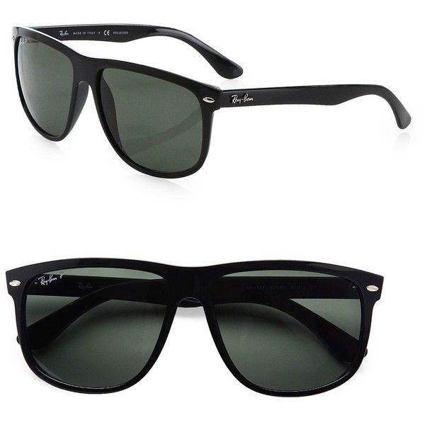 b1251d1344 Ray-Ban Flat-Top Boyfriend Wayfarer Sunglasses (277 CAD) ❤ liked on  Polyvore featuring men s fashion