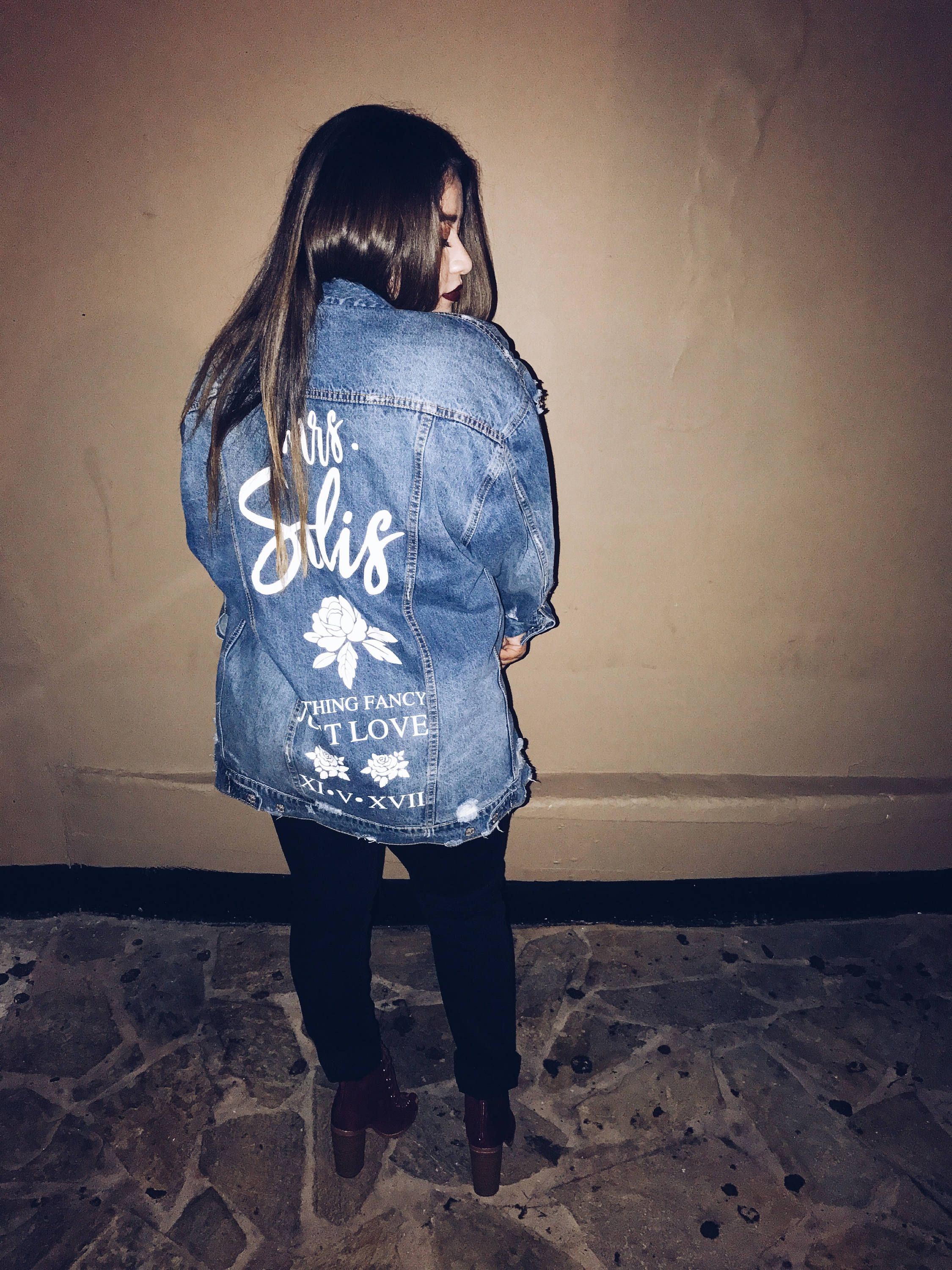 885569dbf Oversized Denim Custom Jacket | Mrs. Denim Jacket | bride denim ...