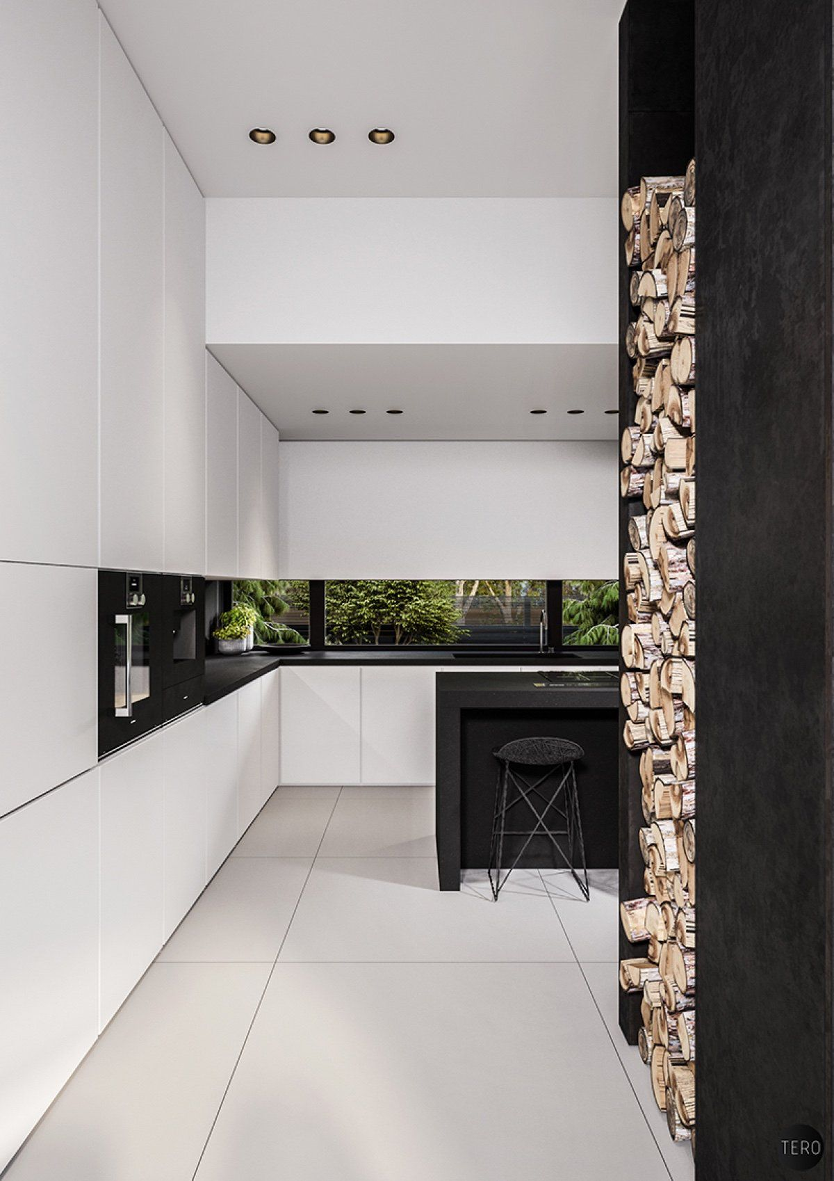 Three Black And White Interiors That Ooze Class Modern Kitchen