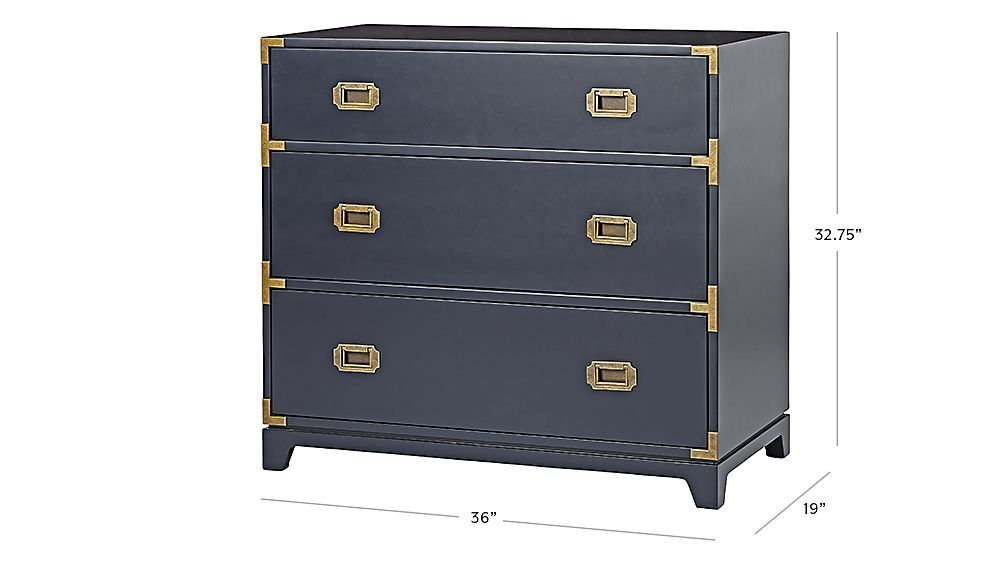 Kids Navy Campaign 3 Drawer Dresser Reviews Crate And Barrel