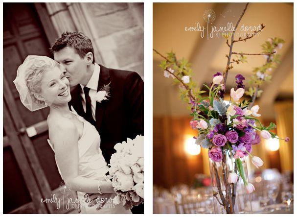 Michigan Wedding Florist Ann Arbor League Ballroom Head Table Centerpiece Sweet Pea Fl Design