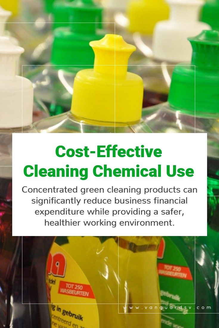 Green cleaning services and costeffective chemical use