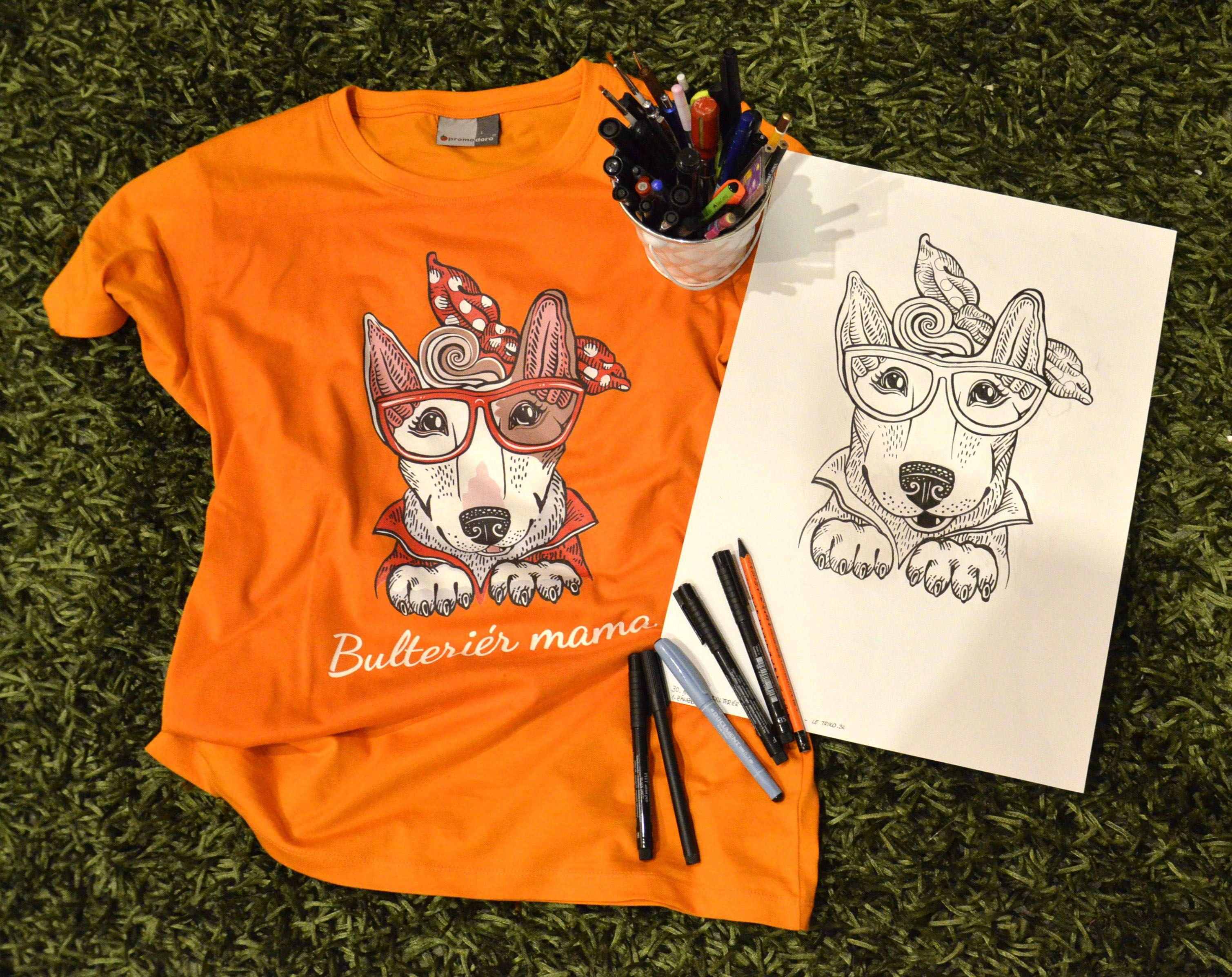 82af5527d823 Bulteriér mama - dámske tričko pre milovníčky psíka - bulteriéra. Krásne a  unikátne tričko