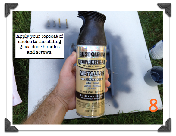 how to properly spray paint metal hardware for a lasting ...