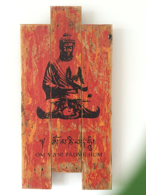 Buddha Wall Art Pallet Wood Art Buddha Wall Stencil Yoga By Kikozo
