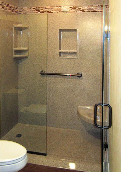 We Have Customizable Options Like The Ramped Curb Shown On This - Bathroom remodeling lees summit mo