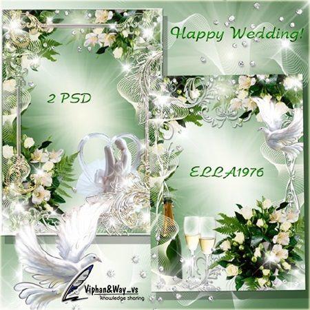 free wedding backgrounds /frames | Free Wedding Frames PSD ...