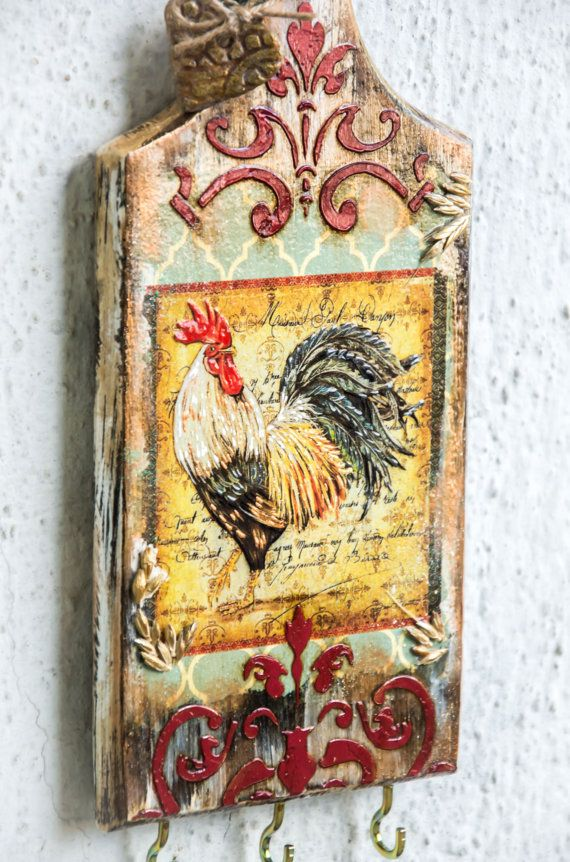 Farmhouse Decor, Rooster Kitchen Decor, Kitchen Wall Decor, Rooster ...