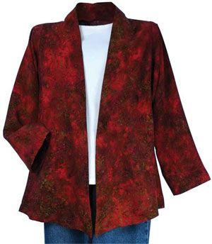 Make Sweatshirt into Jacket | Free Strip-Quilted Jacket Sewing ... : quilted sweatshirt jacket - Adamdwight.com