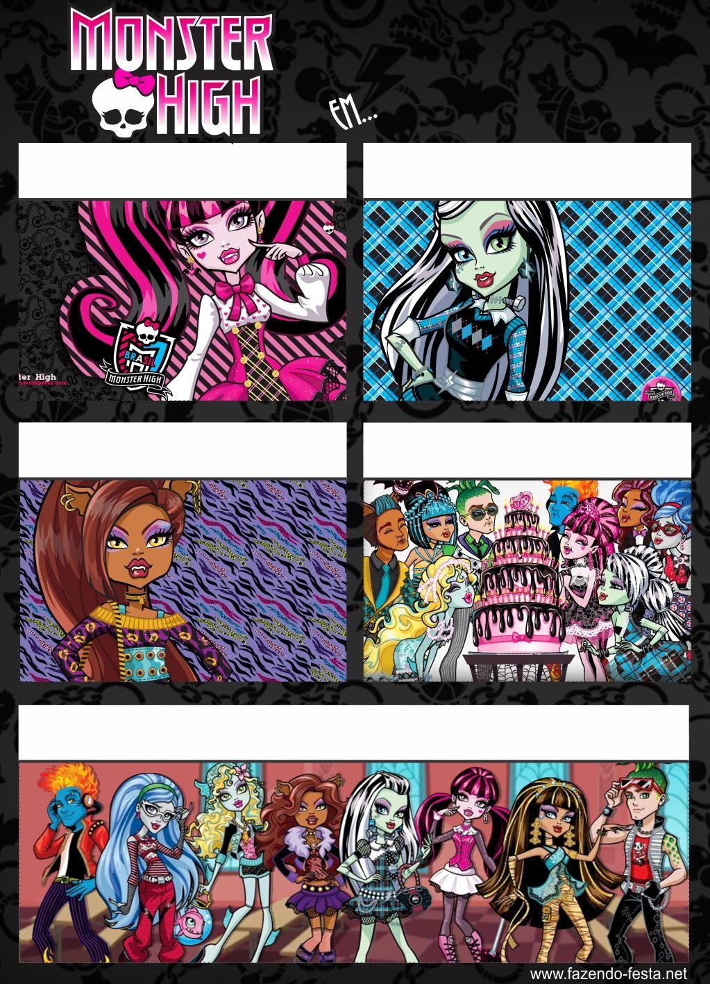 Monster High Skull: Free Printable Kit. | Graces 5th bday bash ...