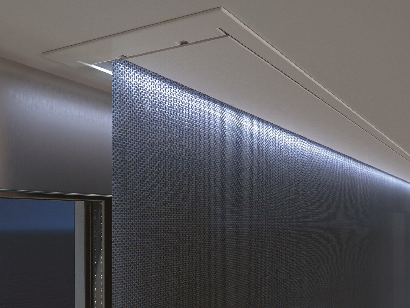 Electric Dimming Fabric Roller Blind Topbox By Mottura Fabric Roller Blinds Roller Blinds Blinds