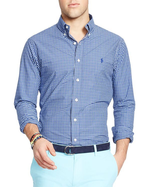 Meilleur Prix De Liquidation Slim-fit Button-down Collar Checked Cotton-poplin Shirt - GreenPolo Ralph Lauren Stocker En Ligne Pas Cher Meilleur Endroit En Ligne CSeMX2ynN