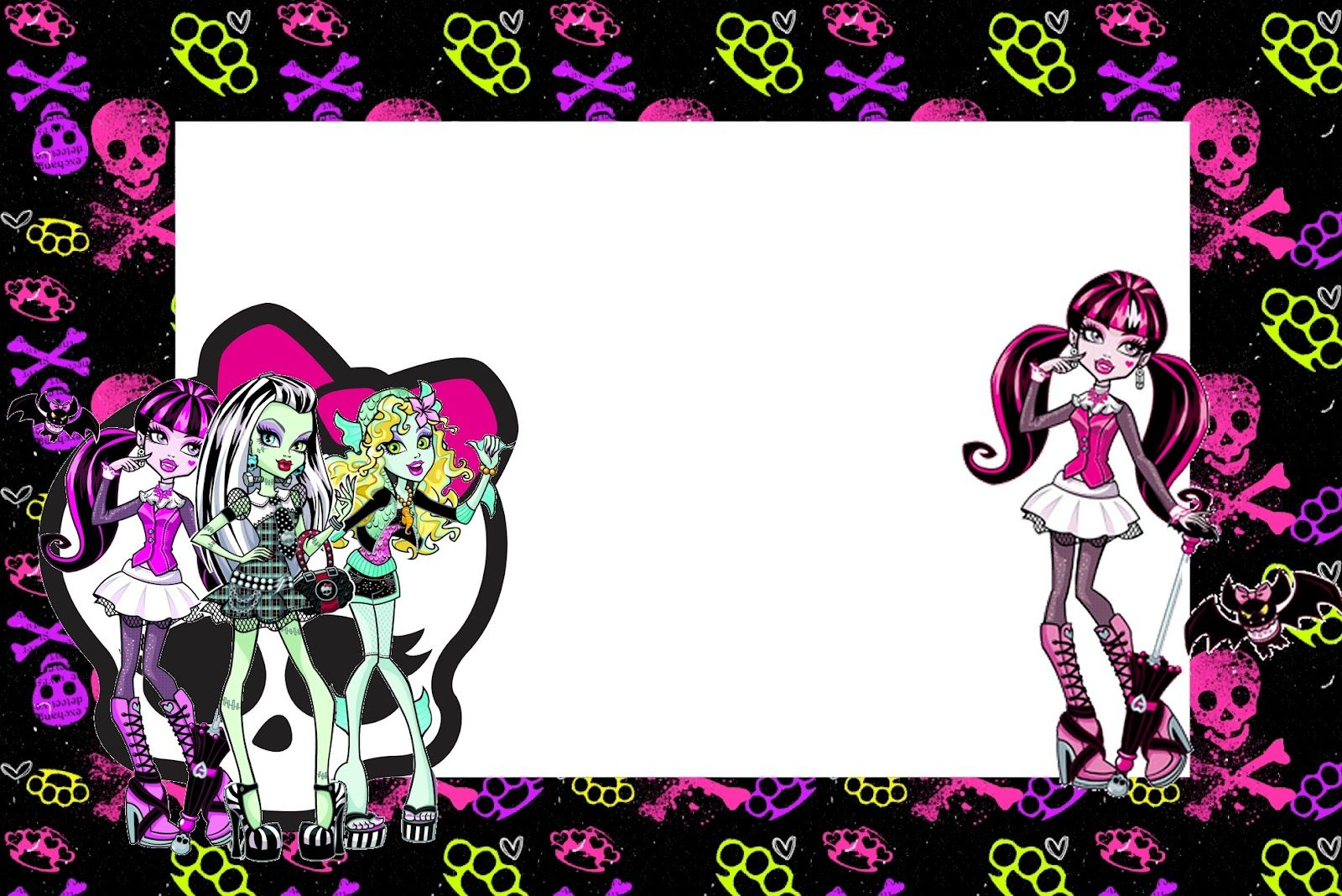 Monster High: invitaciones para imprimir gratis. | invitaciones ...
