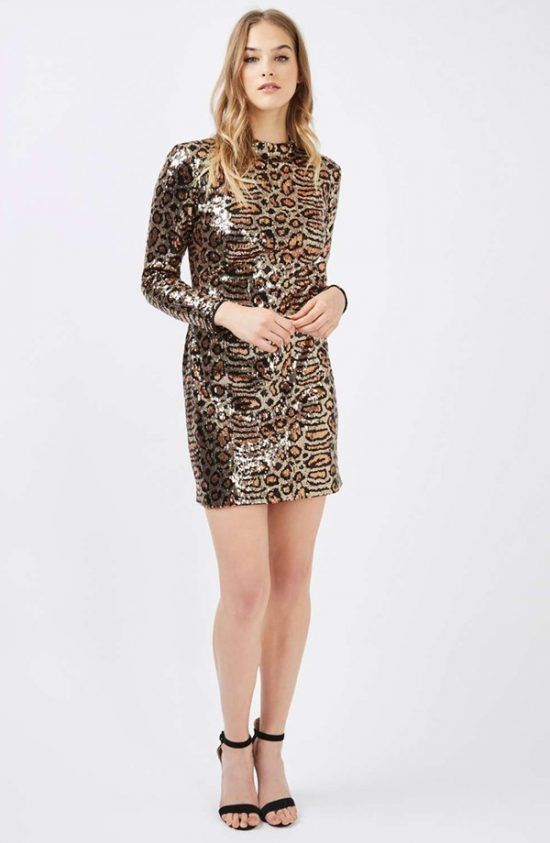 fa03ba8436c Topshop leopard sequin dress New Year s Eve Party Dress Trends Straight  from the Runway
