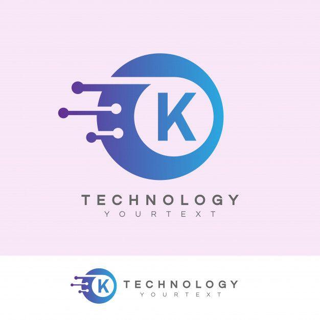 Technologie Initiale Lettre K Logo Design