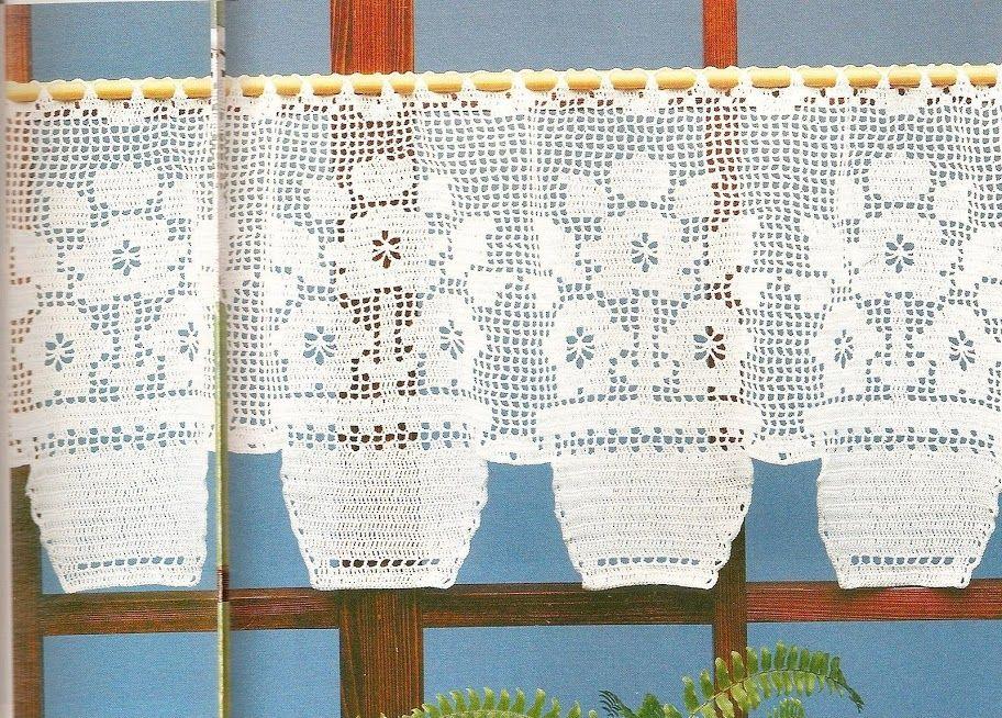 Filet Crochet Lace Curtain Pattern Httppinterestpin