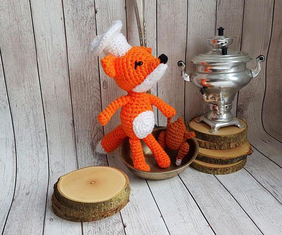 Fox Kitchen Decor | Crochet Fox Kitchen Decor Crochet Food Gift For Cook Woodland