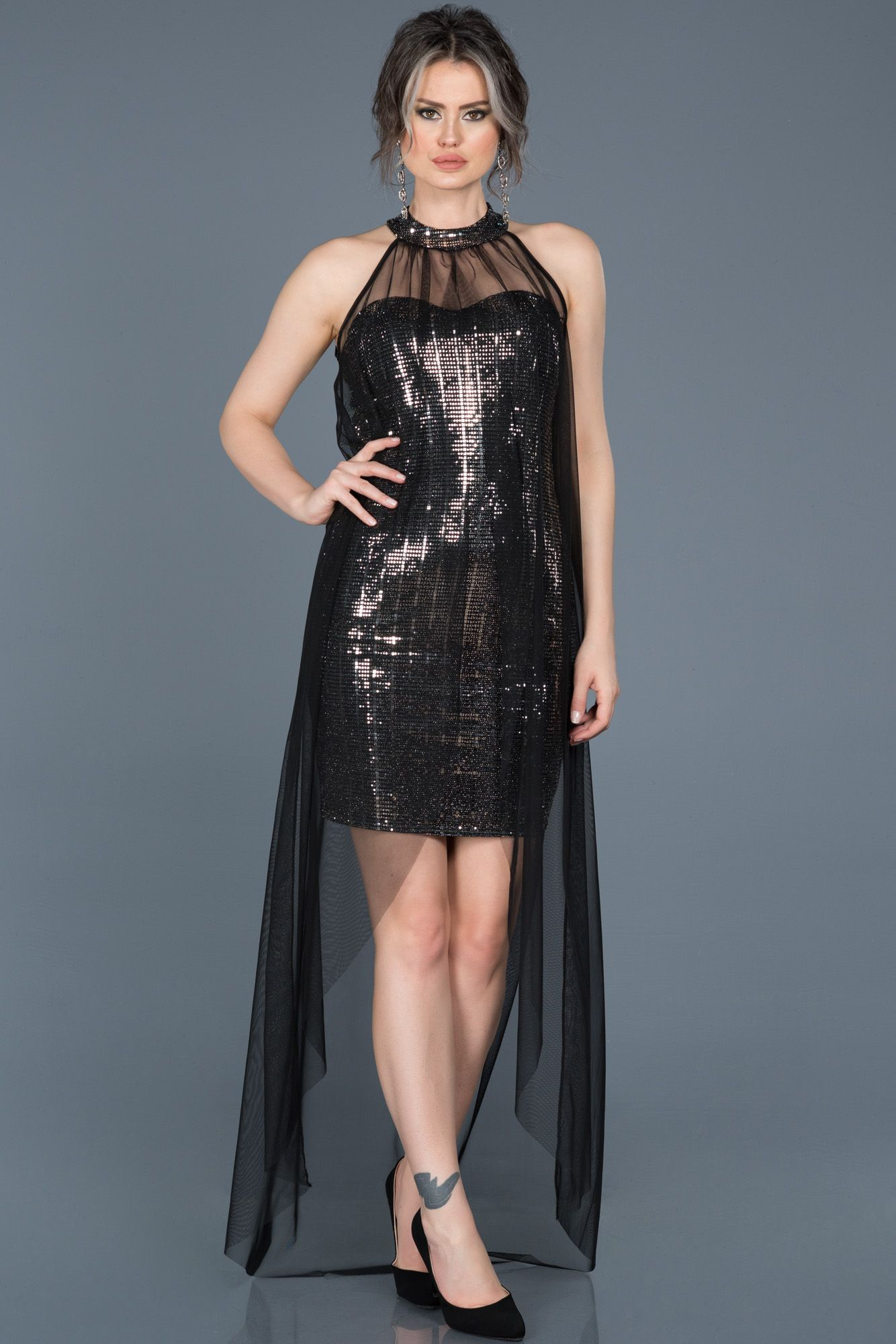 1b459c4ee2a90 #gece elbise, #night dresses, #kısa elbise, #2019 abiye modelleri, #night  dresses, #evening dresses #short, #siyah, #black, #gümüs, #silvery, #tül,  #tulle, ...