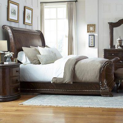 Astoria Grand Hepburn Sleigh Bed Products Pinterest Bedroom
