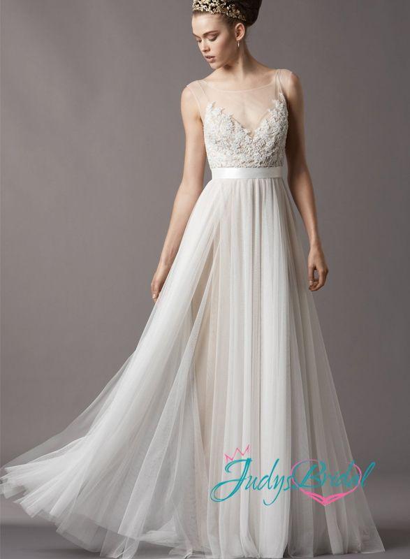 romantic bohemian wedding dresses jc11055 romantic bohemian flowing lace tulle airy wedding dress