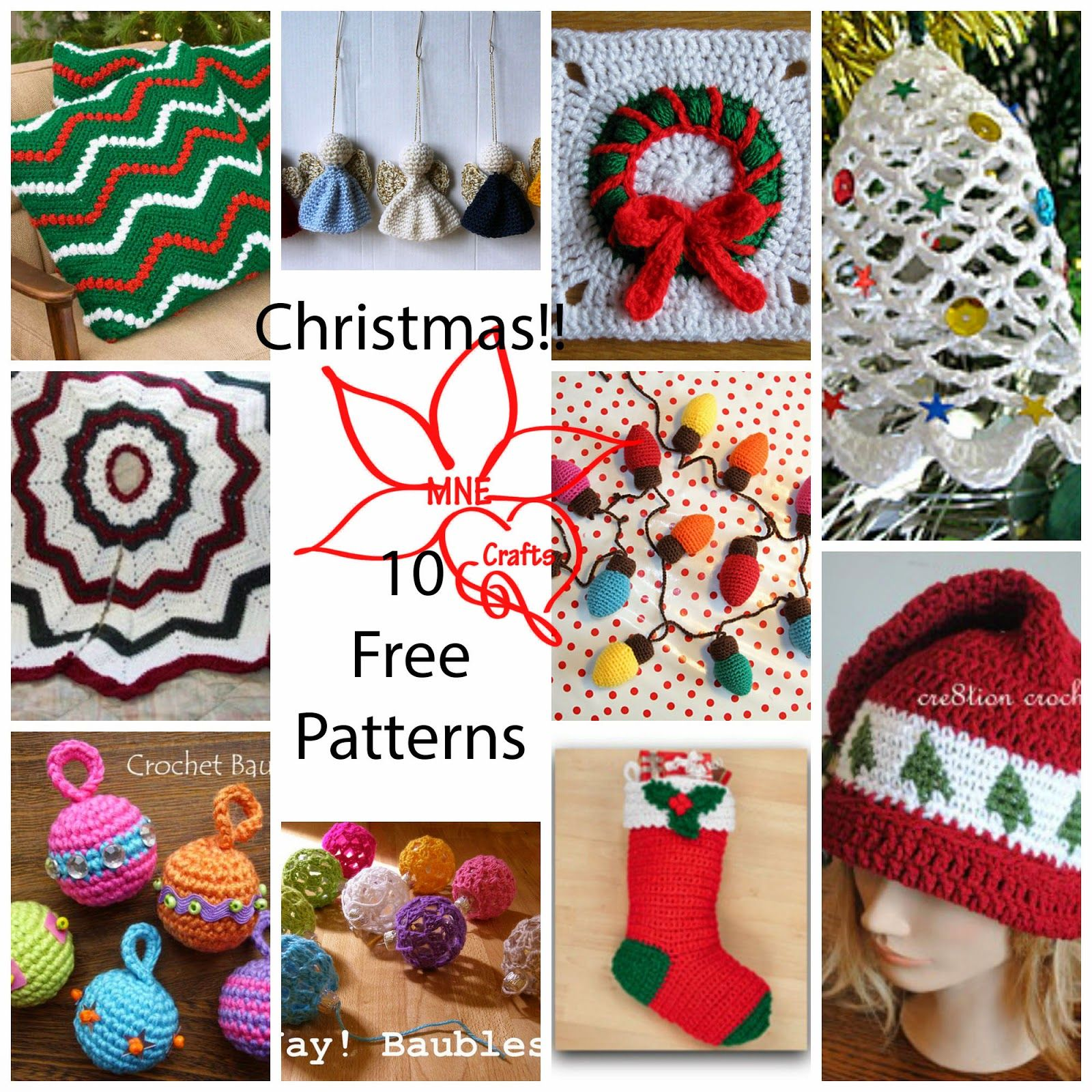 MNE Crafts: Christmas Round Up - 10 Free Patterns | Blogger Crochet ...