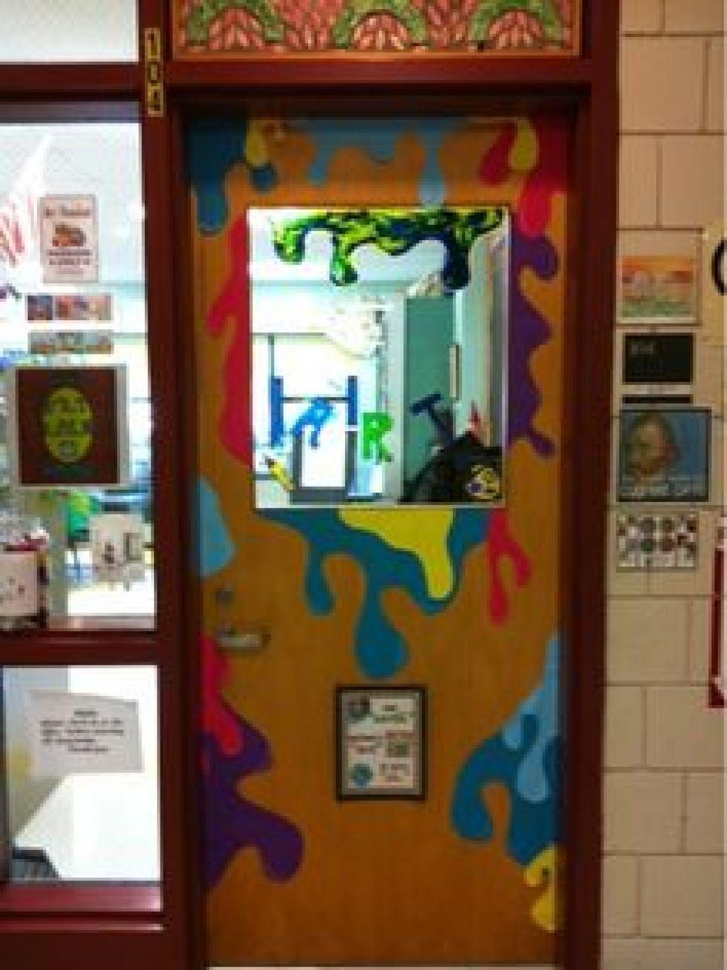 Door on pinterest art classroom classroom door and art room rules
