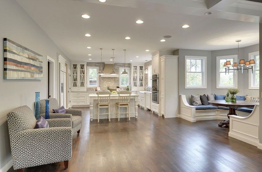 30 Open Concept Kitchens Pictures Of Designs Layouts Open Concept Kitchen Kitchen Floor Plans Breakfast Nook